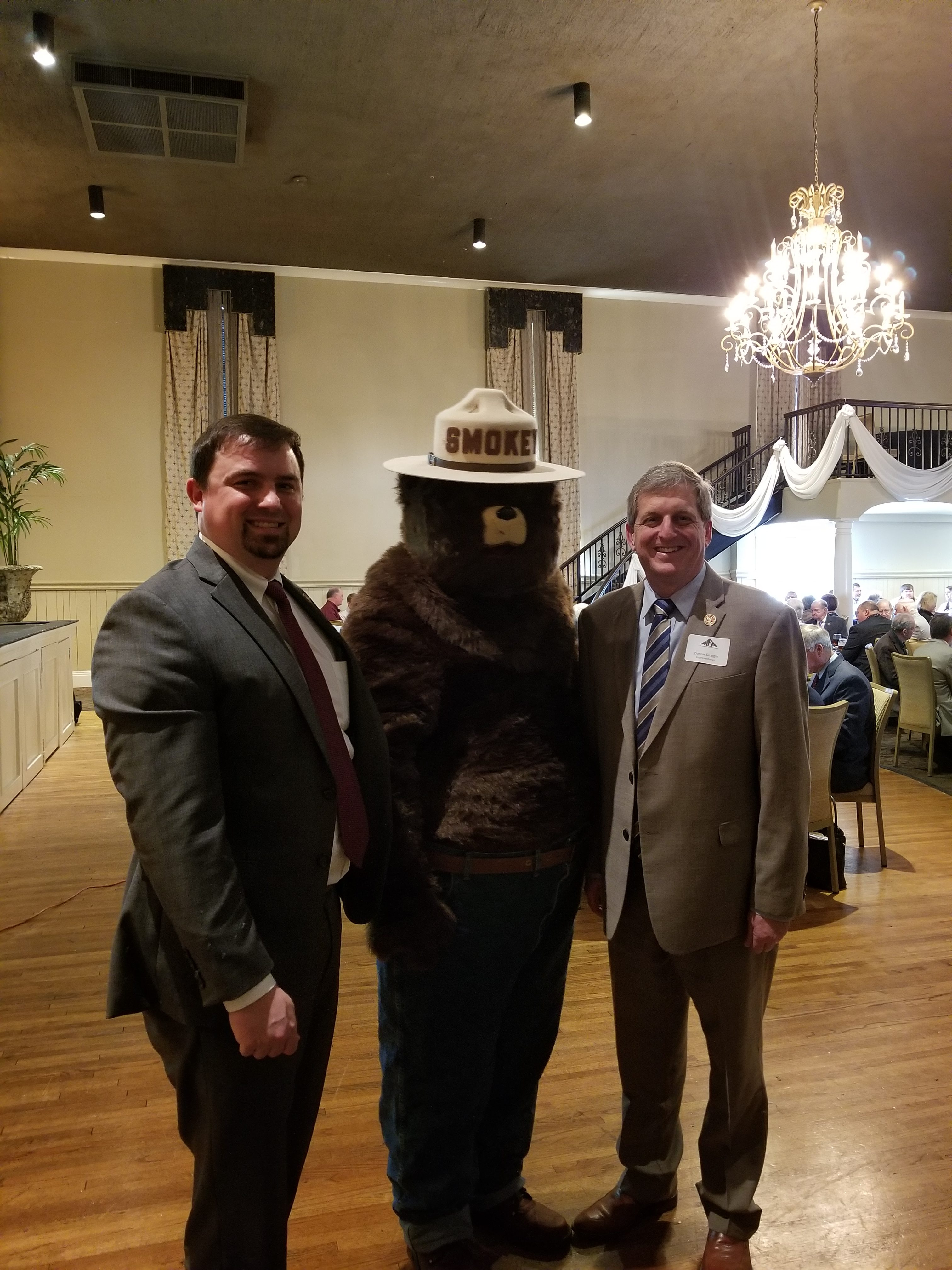 Donnie and Shane Barnett from Wayne County celebrating Smokey Bear's 75th birthday!