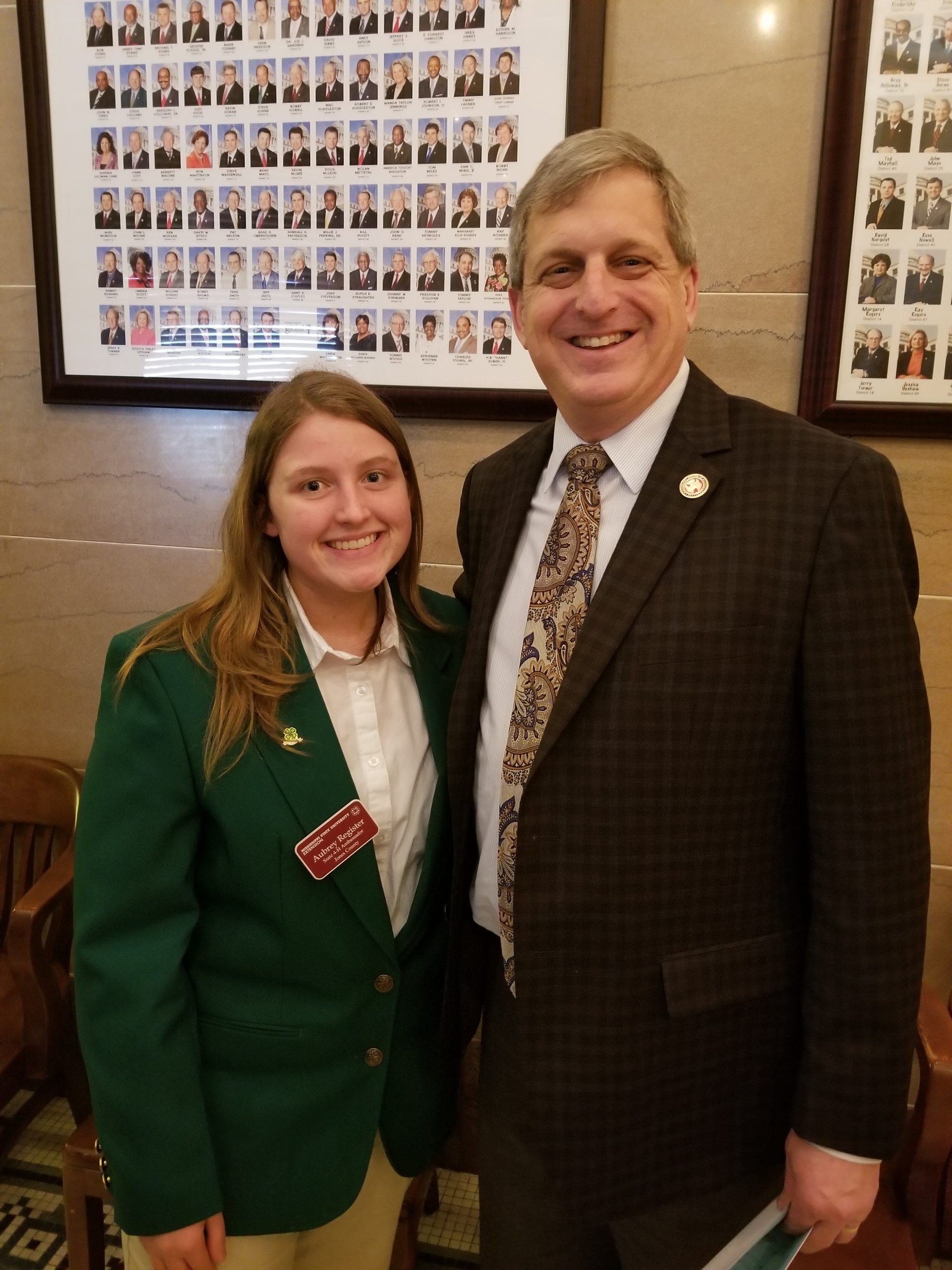 Aubrey Register is a member of the Jones County 4-H and also the state ambassador 4-H team.