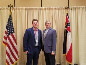 Meeting with Campbell Hankins. Selected to be in the leadership program sponsored by the Electric Cooperatives of Mississippi.